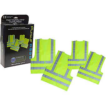 Summit Pursuit High Vis Safety Vests Family Pack