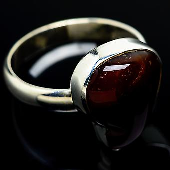 Mexican Fire Agate Ring Size 10 (925 Sterling Silver)  - Handmade Boho Vintage Jewelry RING7735