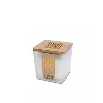 Hart en huis bamboe en gember lily 96g jar kaars