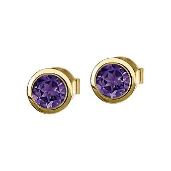 Jacques Lemans - Studs sterling silver plated with amethyst - SE-O101I