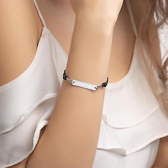 925 Silver Bar String Bracelet | I Love You