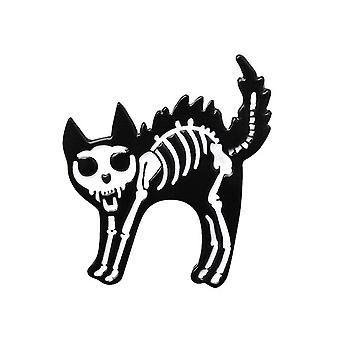 Attitude Clothing Skelecat Enamel Pin