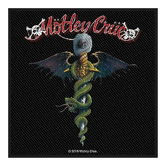 Motley Crue Patch Dr Feelgood Band Logo new Official Woven (10cm x 10cm)
