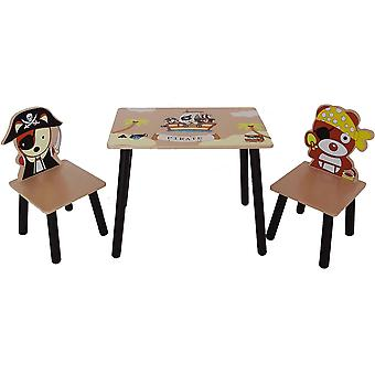 Kiddi Style Pirate Table And 2 Chairs