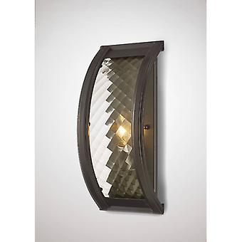 Wall Light Asia 1 Ampoule E14 En bronze huilé / Verre transparent
