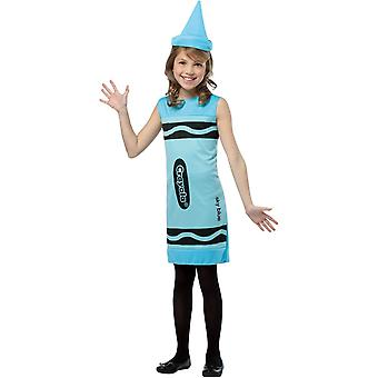 Blå Crayola penna barn kostym - 21534