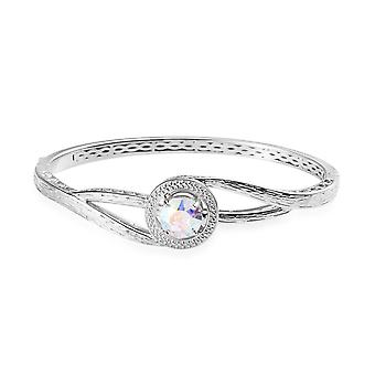 J FRANCIS 5.5 Ct Made with Swarovski® Crystal Bangle for Women Size 7.5