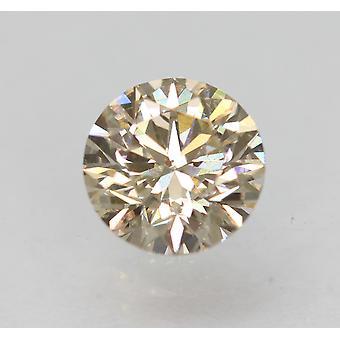 Cert 0,78 Karat hellbraun VS1 Runde brillante natürliche lose Diamant 5,83 mm 3EX