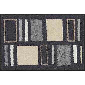 Salonloewe tapis de pied Geometric Squares city-chic tapis de porte lavables coureurs