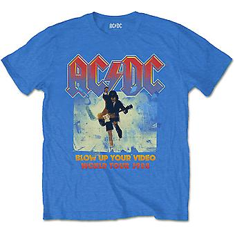 Blue Ac/Dc Blow Up Your Video Official Tee T-Shirt Mens Unisex