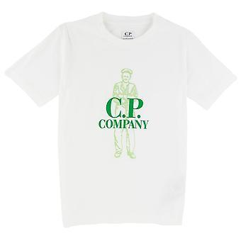 CP Company Undersixteen C.P. Company Undersixteen Worker Logo T-shirt White 103