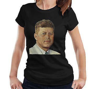 Lørdag kveld Post John F Kennedy Norman Rockwell Cover Kvinner's T-skjorte
