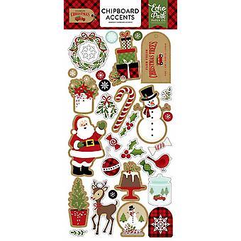 Echo Park feiern Weihnachten 6 x 12 Zoll Spanplatten Akzente