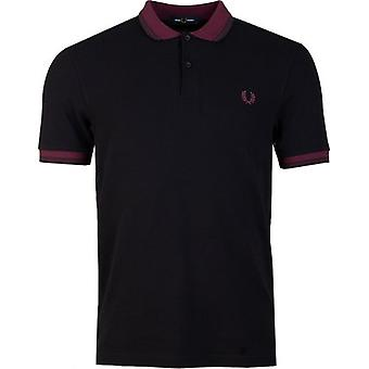 Fred Perry Authentics Contrast Ribbed Short Sleeved Polo