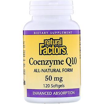 Natural Factors, Coenzyme Q10, 50 mg, 120 Softgels