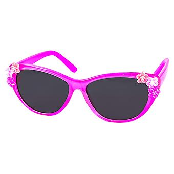 Sunglasses girl with flowers girl pink