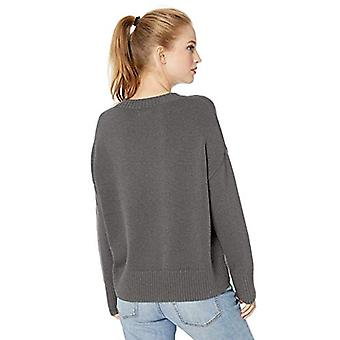Brand - Daily Ritual Women's 100% Cotton Boxy Crewneck Sweater, Charco...
