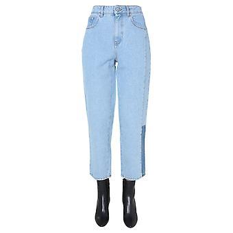 Mcq Door Alexander Mcqueen 623857rod034328 Dames's Light Blue Cotton Jeans