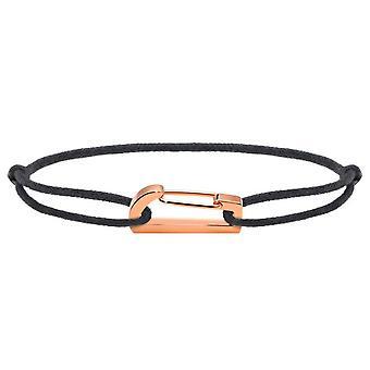 Rochet B186900 pulsera - KIM PVD Rosa Cordon algodón gris R glable mujeres