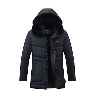 Fur Collar Hooded Duck Down Jacket For Men
