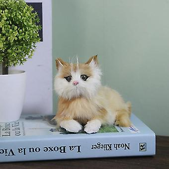 Simulation Cat Doll For Desktop And Home Decoration