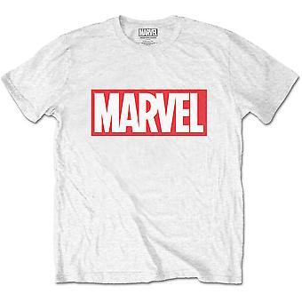 White Marvel Comics Marvel Box Logo Official Tee T-Shirt Unisex