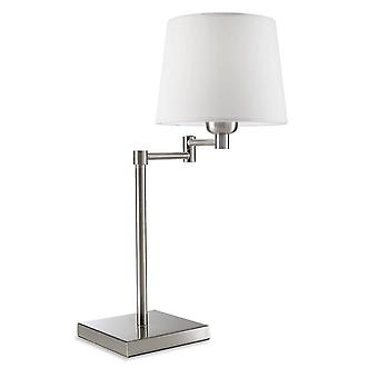 Leds-C4 Dover - 1 Light Adjustable Table Lamp Satin Nickel, E27