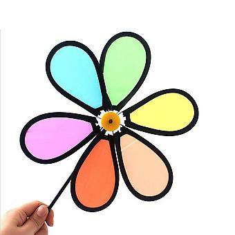 Colorful Rainbow Flower Spinner Windmill For Home, Garde Yard Decoration
