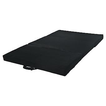Opvouwbaar matras logeermatras 200x80x10 cm zwart
