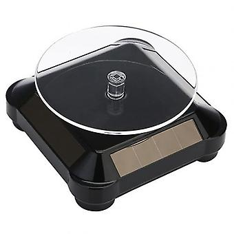 Auto Rotating Turntable Stand Necklace Bracelet Watch Display Solar Showcase