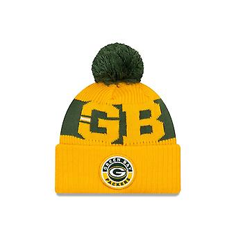 New Era Nfl Green Bay Packers Official 2020 Sideline Road Sport Beanie Knit