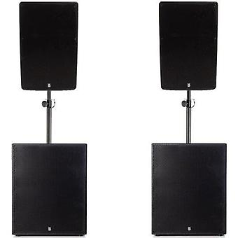 Big gig rig 21 - active 2800w rms 15 tops with 18 subwoofer pa system with bluetooth