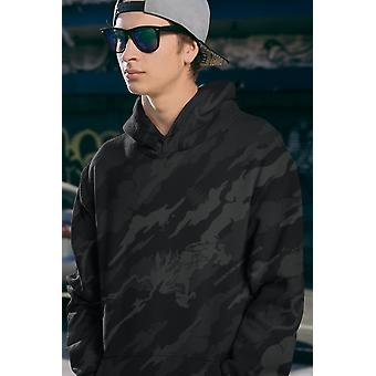Alpine black retro men sublimation hoodie