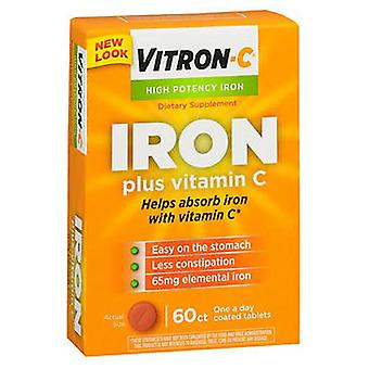 Vitron-C High Potency Iron Supplement Plus Vitamin C, 60 tabs