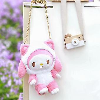 Melody Hello Kitty / cinnamoroll Design Doll Stuffed Peluche Soft Bags