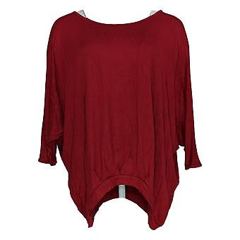 DG2 por Diane Gilman Women's Top Pleat-Front Dolman 3/4 Sleeve Red 654-861