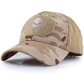 Hiking Caps- Adjustable Breathable Mesh Skull Cap, Tactical Military Camo