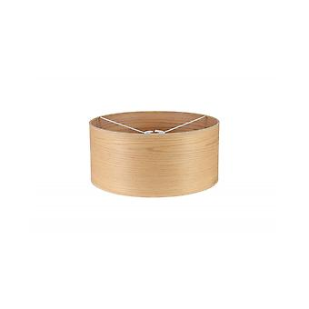 Araminta pyöreä, 395 x 180mm puuefektivarjostin, vaalea tammi/valkoinen laminaatti