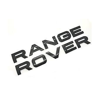 "Gloss Carbon Fibre ""RANGE ROVER"" Front Grill Bonnet Badge Emblem Bonnet And Back Boot Lettering Badge"