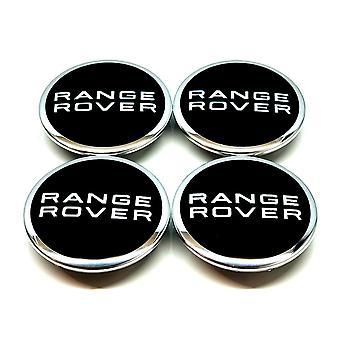 Black Range Rover Wheel Center Caps Hub Badges 63mm 4 PCS Til Evoque Defender Discovery Sport Velar Freelander