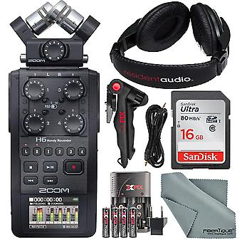 Zoom h6 six-track portable recorder with interchangeable microphone system wi...