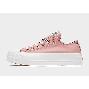 New Converse Women's All Star Ox Lift Classic Trainers Rose