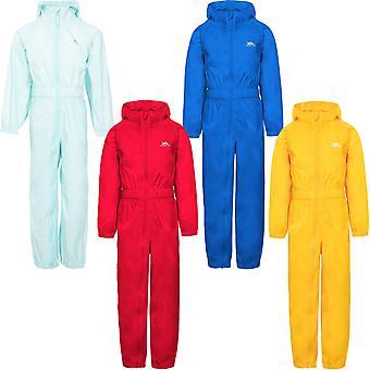 Trespass niños juventudes botón impermeable transpirable al aire libre puddle traje de lluvia