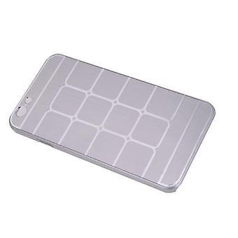 Lattice الشبكة واقية فرشاة الألومنيوم الثابت مرة أخرى غطاء حالة الجلد لأبل اي فون 6 الفضة