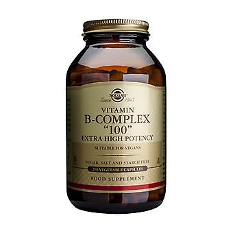 "Vitamin B-Complex ""100"" Extra High Potency Vegetable 250 capsules"