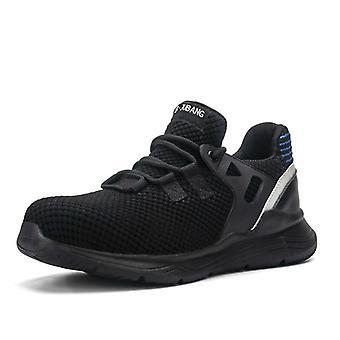 Muži bezpečnostné topánky s nezničiteľnou prácou, topánky s oceľovou toe, vodotesný,