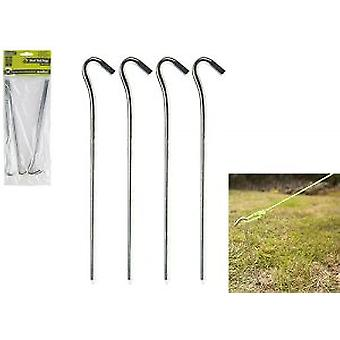 Summit Heavy Duty Steel Hook Pin Awning Camping Tent Pegs 23cm x 6mm