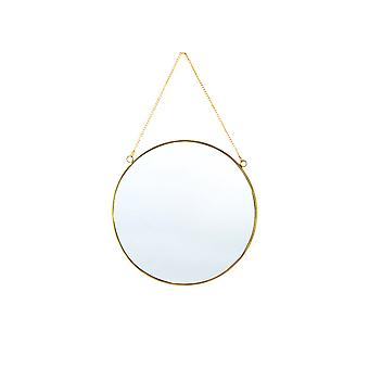 YANGFAN Hanging Wall Mirror Decor Small Gold  Mirrors for Home