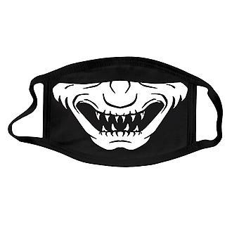 Men And Women Personalized Halloween Fashion Luminous Skull Printed Mask Face