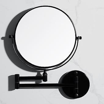 Vægmonteret rundformet foldbart skønhedsspejl forstørrelsesglas til makeup